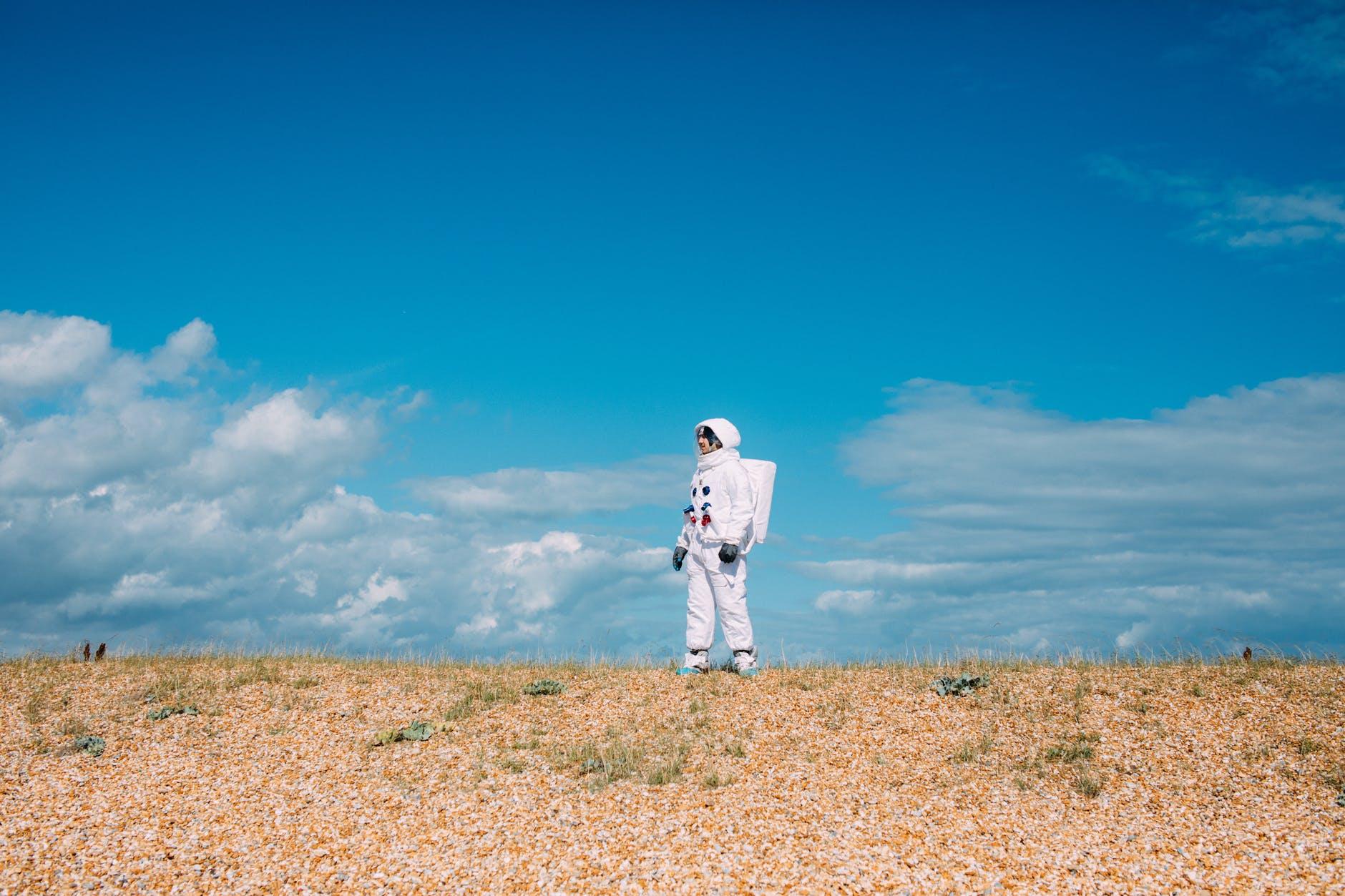 astronaut standing alone